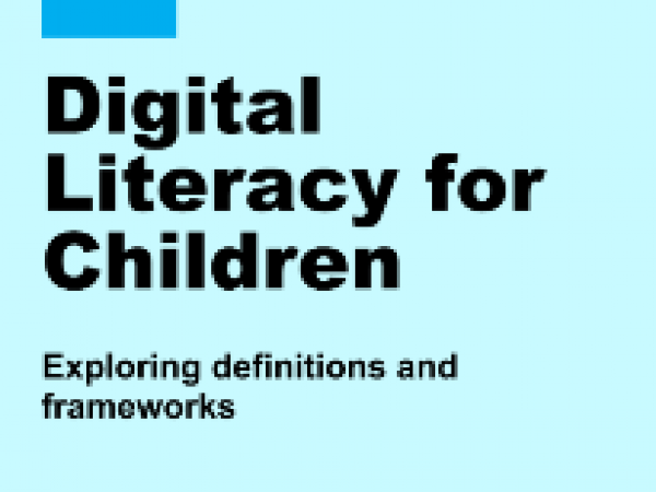 Digital Literacy for children scoping paper by UNICEF  suggests EC DigComp framework as the principle way forward